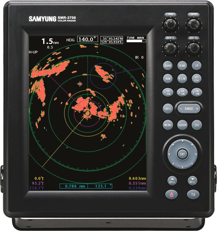 Samyung Radar SMR 3700 Zaslon
