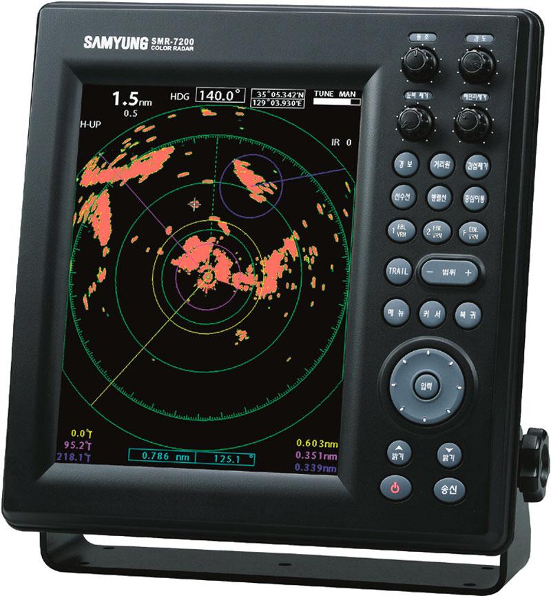 Samyung Radar SMR 7200 Zaslon
